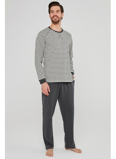 Penti Stripe Pijama Takımı Renkli